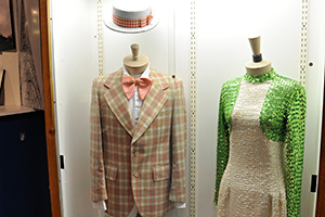 Uncle Al and Captain Windy's costumes on display