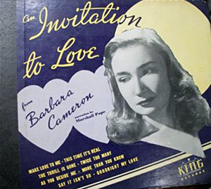 Barbara Cameron, the Dayton born singer who was popular on WLW