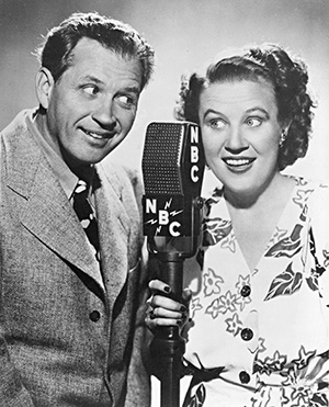 "James ""Jim"" Jordan and Marian Driscoll as Fibber McGee and Molly"