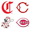 Cincinnati Reds logos throughout the years