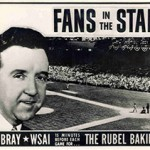 Dick Bray a Cincinnati Reds broadcaster Fans In The Stands promotion