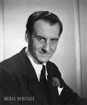 Hans Conried Jr. was the voice of many characters on radio and tv. Notably Snidley Whiplash and Captain Hook.